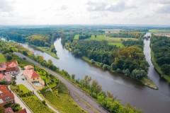 Confluence of the Vltava and Elbe in Melnik, Czech republic